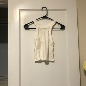 Urban Outfitters White Racerback Crop Top Size M